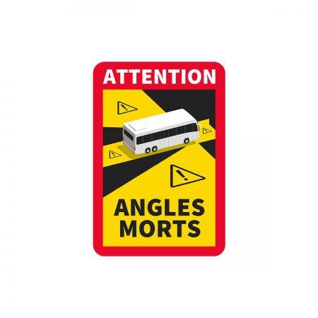 Naklejka Francja Angles Morts- AUTOBUS- 10 sztuk