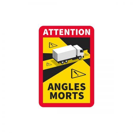Naklejka Francja Angles Morts- TIR- 10 sztuk