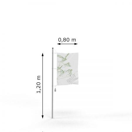 Flagi reklamowe - 80 x 120 - taśma + karabińczyki ➲ Print4Events.pl
