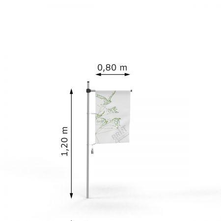 Flagi reklamowe - 80 x 120 - karabińczyki