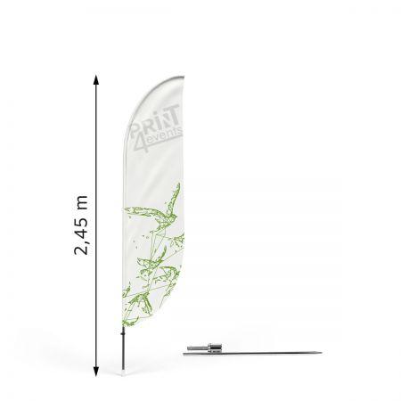 Zestaw flagowy Bend S ze szpilą- Print4Events