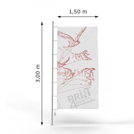 Flagi reklamowe - 150 x 300 - taśma + karabińczyki