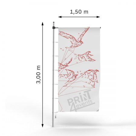 Flagi reklamowe - 150 x 300 - karabińczyki ➲ Print4Events.pl