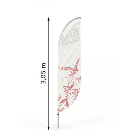 Flaga winder z masztem Classic Bend M