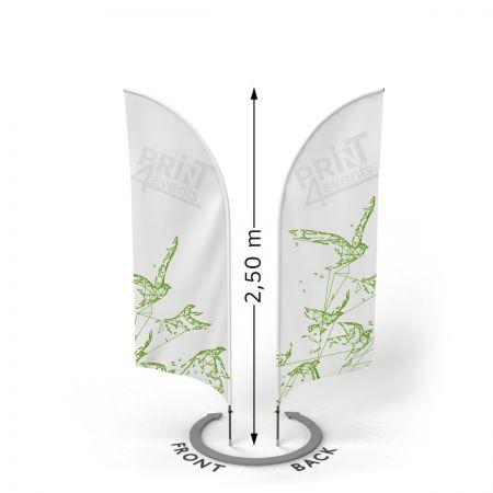 Flagi reklamowe dwustronne - Print4Events