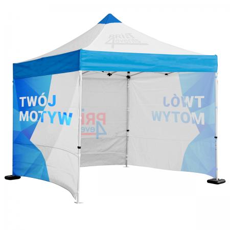 Namiot reklamowy 3x4,5 z dachem i ścianami