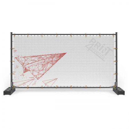 Baner siatka mesh- zgrzew + oczka wokoło co 50 cm